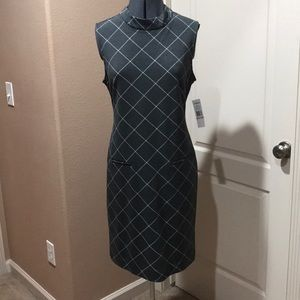 Grey Print Sheath Dress